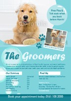 Dog Groomers A5 Leaflets by Templatecloud