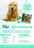 Dog Groomers A5 Flyers by Templatecloud