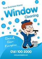 Window Cleaning A6 Leaflets by Templatecloud