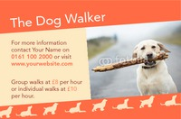 Dog Walkers Business Card  by Templatecloud