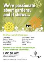 Garden Maintenance A5 Leaflets by Templatecloud