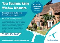 Window Cleaning A5 Leaflets - Front