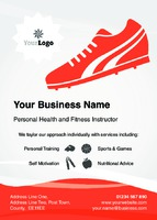 Fitness A6 Flyers by Templatecloud
