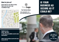 Security A4 Folded Leaflets by Templatecloud