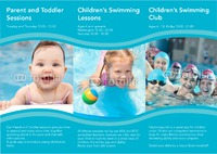 Swimming Lessons A4 Folded Leaflets by Templatecloud