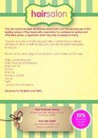 Beauty Salon A6 Leaflets - Back