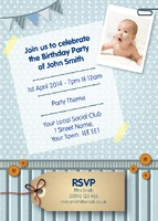Birthday Party A6 Invitations by Templatecloud