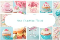 Make your own business card design online instaprint bakery business card back bakery business card front reheart Choice Image