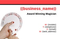 Entertainer Business Card  by Templatecloud