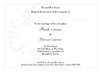 Marriage A6 Invitations by Templatecloud
