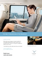 Taxi A4 Leaflets by Templatecloud