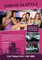 Taxi Hire A6 Flyers by Templatecloud