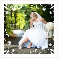 """Marriage 30x30"""" with premium frame Photo Canvas by Templatecloud"""