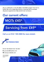 Garage Services A5 Leaflets by Templatecloud