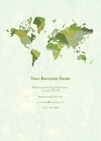 World Map A6 Leaflets by Templatecloud