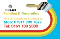 Decorating Business Card  by Templatecloud