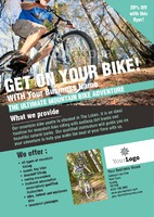 Bike Hire A5 Leaflets by Templatecloud