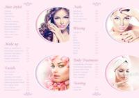 Beauty Salon A4 Folded Leaflets by Templatecloud