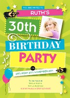 Birthday Party A7 Invitations by Templatecloud