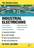 Electrician A4 Posters by Templatecloud