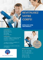 Massage A6 Flyers by Templatecloud