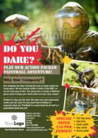 Paintball A5 Flyers by Templatecloud