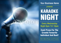 Karaoke A4 Leaflets by Templatecloud