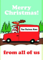 Edit & Go: Regular (Folds to A6) Christmas Cards by Templatecloud