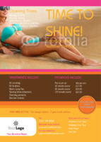 Tanning Salon A6 Leaflets by Templatecloud