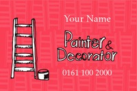 Plastering Business Card  by Templatecloud