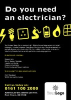Electrical A5 Leaflets by Templatecloud