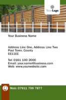 Business Card Fencing Specialists Bcard Flyer by Templatecloud