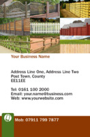 Business Card Fencing Experts Bcard Flyer by Templatecloud