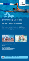 Swimming Lessons 1/3rd A4 Flyers by Templatecloud