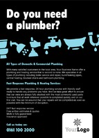 Plumbers A6 Leaflets by Templatecloud