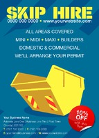 Skip Hire A6 Leaflets by Templatecloud