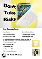 Electrician A6 Leaflets by Templatecloud