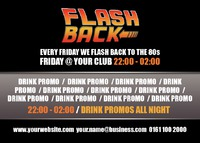 Night Club A6 Leaflets - Back