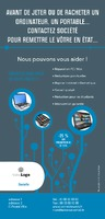 Réparations de PC 1/3 A4 Tracts par Templatecloud