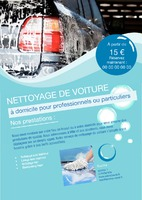Station de lavage automobile A5 Tracts par Templatecloud