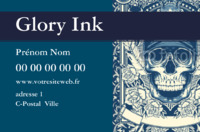 Tatoueur Carte de visite  par Templatecloud