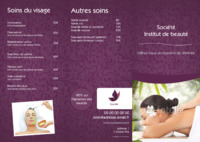 Massage A4 Dépliants par Templatecloud