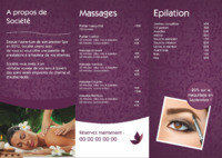 Massage A4 Dépliants par Templatecloud