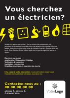 Électrique A4 Tracts par Templatecloud
