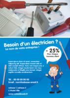 Électriciens A5 Flyers par Templatecloud