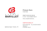 Groupe Barillet - CV- Recto Verso par Templatecloud