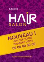 Salon A5 Flyers par Templatecloud