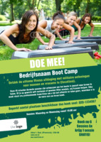 Fitness A5 flyers door Templatecloud