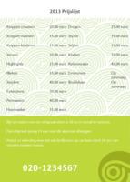Schoonheidssalon A6 flyers door Templatecloud