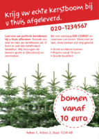 Gardeners A6 flyers door Templatecloud